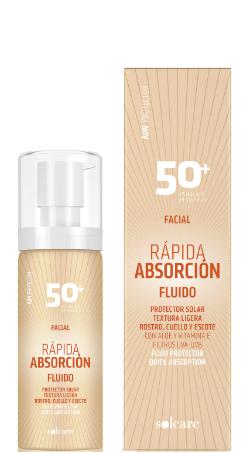 fluido protector facial rapida absorcion fps50